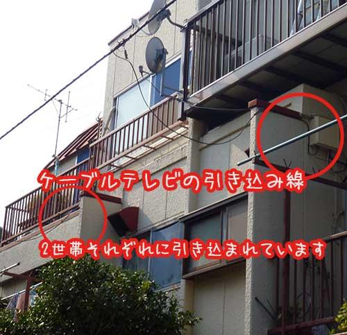 志木市J-COMからアンテナへ切り替え工事
